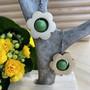 Kukkais-korvakorut, vihreä