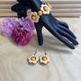 Kukkais-korusetti, oranssi