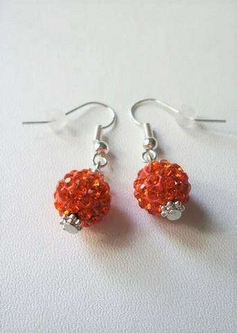 Bling-korvakorut, oranssi
