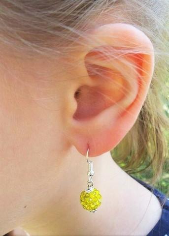 Bling-korvakorut, keltainen