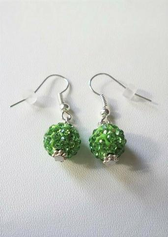 Bling-korvakorut, vihreä
