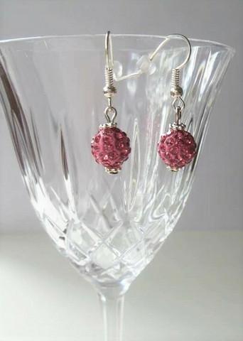 Bling-korvakorut, roosa