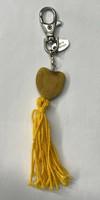 Sydän laukkukoru keltainen