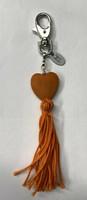 Sydän laukkukoru oranssi
