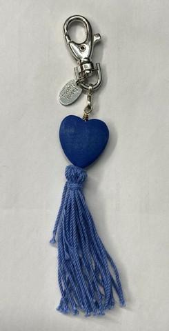 Sydän laukkukoru sininen