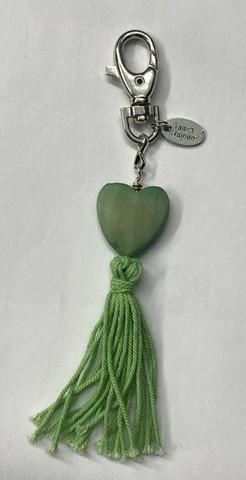 Sydän laukkukoru vihreä