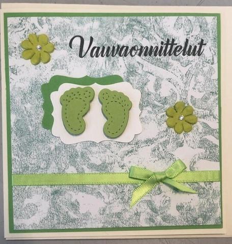 Kortti poikavauvalle vihreät varpaat