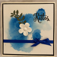 Kortti kiitos sininen kukka