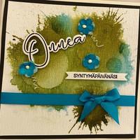 Kortti sininen syntymäpäivä