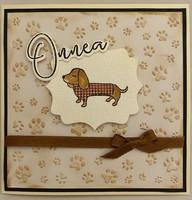 Kortti onnea koira