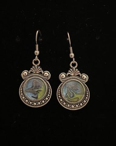 Kynsilakka korvakorut sini-vihreä