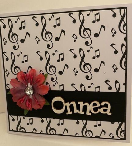 Kortti musiikki pinkki kukka