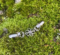 Helmipidike kukka bling liila