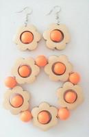 Kukkais-korvakorut, oranssi