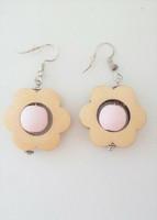 Kukkais-korvakorut, vaaleanpunainen