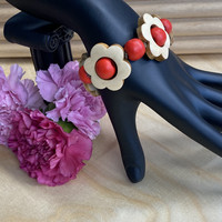 Kukkais-rannekoru, punainen