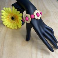 Kukkais-rannekoru, pinkki