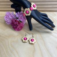 Kukkais-korusetti, pinkki