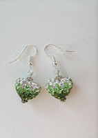 Bling-sydänkorvakorut, vihreä