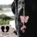 Bling-laukkukoru, vaaleanpunainen perhonen