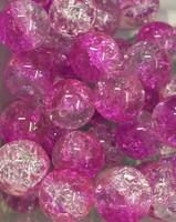 Tupsullinen helmipidike pinkki särölasi