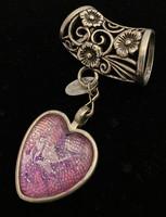 Huivikoru sydän vaaleanpunainen