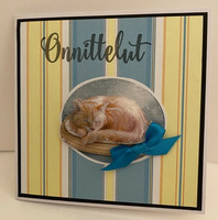 Kortti kissa 3D nukkuu