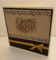 Kortti hevoset ruskea
