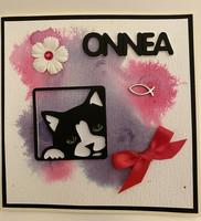Kortti kissa pinkki