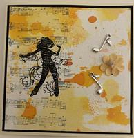 Kortti musiikki keltainen