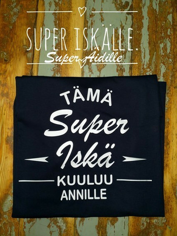 Super Iskä/Isi/IPappa/Äiti/Mummi. Rakkailla on montaa eri nimikettä