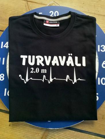 TURVAVÄLI t-paita sydänkäyrällä