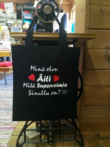 Supervoimia puuvillakassi