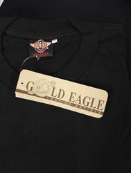 Miesten musta Gold Eagle t-paita