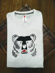 Valkoinen KARHU-paita, nimellä tai ilman.