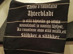 Pitkä laudeliina eli Ahterbladi tekstillä