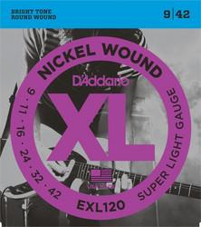 Daddario EXL120  09-042 Stängset för elgitarr