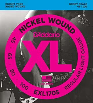 Daddario EXL170S    Nickel Wound   45-100  Short scale
