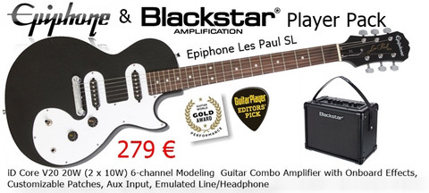 Epiphone & Blackstar  Player Pack EB-V20