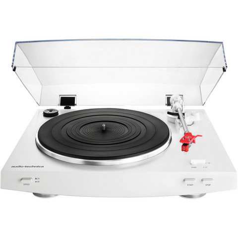Audio-Technica AT-LP3WH  skivspelare, vit