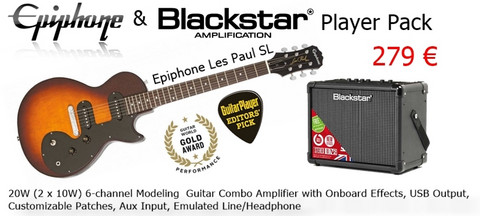 Epiphone & Blackstar  Player Pack VSB-V20