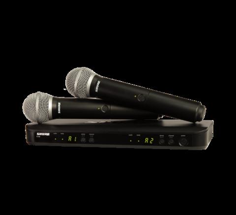 Shure BLX288E / PG58 trådlös mikrofonset med två mikrofoner