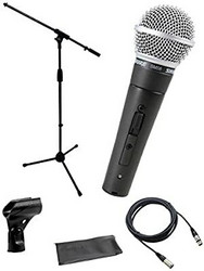 Shure SM-58LCE + KM mic stand bundle