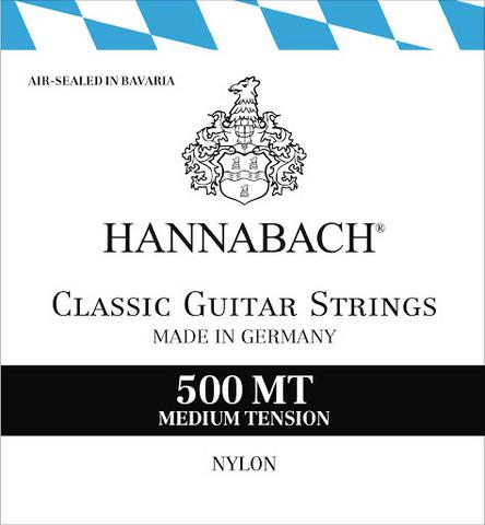 Hannabach 500MT nylonsträngsats för hitarr