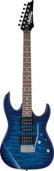Ibanez GRX-70 QA-TBB  (Transparent Blue Burst)