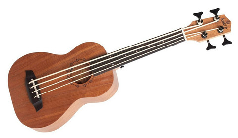 Kokio fretted mahogany  ukulele EQ bass w/lightcase