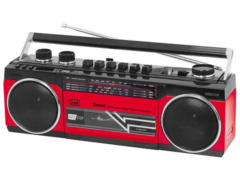 Trevi RR 501 Radiobandspelare, bluetooth, röd