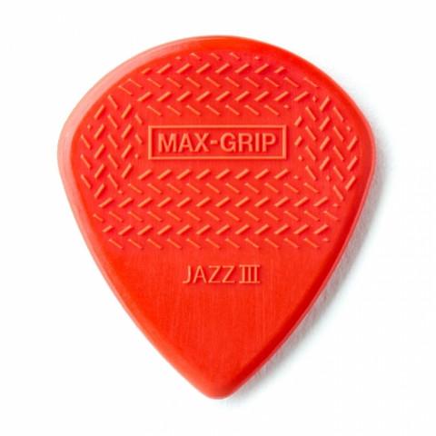 Dunlop plektrum Max-Grip Jazz III - RED