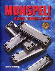 MUNSPEL Melodi, Teknik & Blues Bok + CD