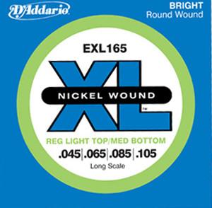 Daddario EXL165    Nickel Wound   45-105  till 4-strängad elbas